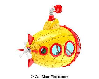 cartoon yellow submarine back