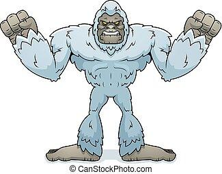 Cartoon Yeti Angry