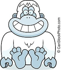 Cartoon Yeti Sitting