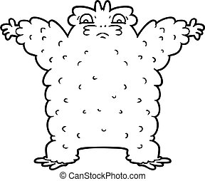 cartoon yeti
