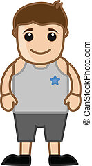 Cartoon Young Boy Character Vector