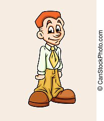 Cartoon Young Businessman Character