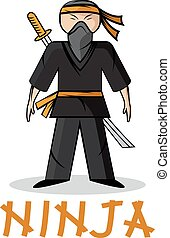 cartoon young ninja illustration