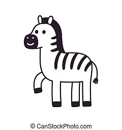 Cartoon Zebra drawing
