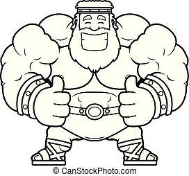 Cartoon Zeus Thumbs Up - A cartoon illustration of Zeus with...