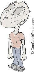 cartoon zombie character style big head