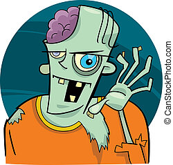 cartoon zombie - cartoon illustration of funny zombie