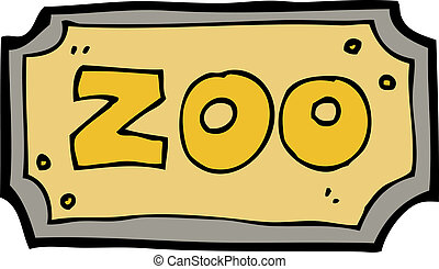 cartoon zoo sign