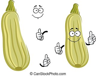 Cartoon zucchini vegetable with thumb up
