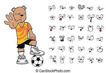 cartoon4, futebol, urso, pelúcia