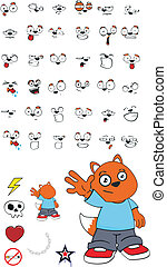 cartoon4, zorro, niño