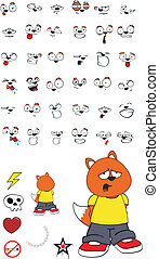 cartoon5, zorro, niño