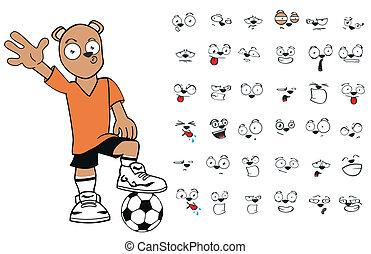 cartoon6, futebol, urso, pelúcia