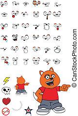 cartoon6, zorro, niño
