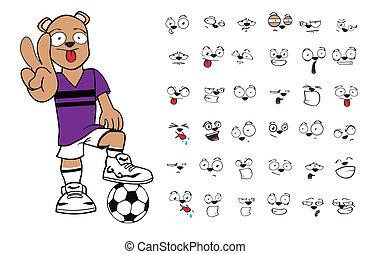 cartoon7, futebol, urso, pelúcia