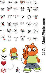 cartoon7, zorro, niño