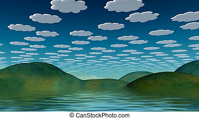 Cartoonish Landscape