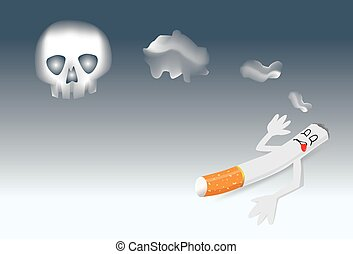 Cartoons No Smoking Sign - Stop smoking symbol for World No...