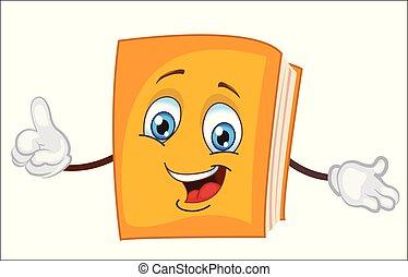 cartoon.vector, personagem, livro, illustration.