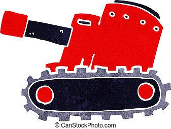 cartooon army tank