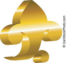 cartouche., 黃金, 設計, -, 元素