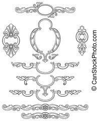 Cartouches collection - Vintage design elements and frames ...