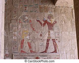 cartouches, sollievo, vernice, parete bassa