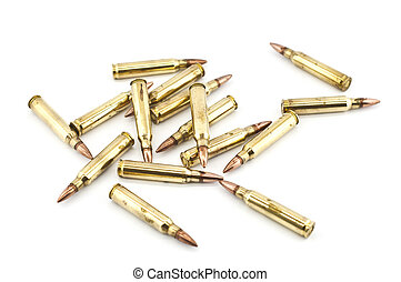 Cartridge 5.56 mm caliber isolated. - Cartridge 5.56 mm ...
