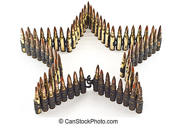 Cartridge 7.62 mm caliber isolated. - Cartridge 7.62 mm ...
