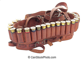 cartridge belt - hunting cartridge loaded with blank ...