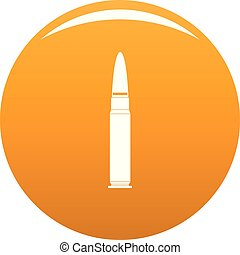 Cartridge for weapon icon vector orange