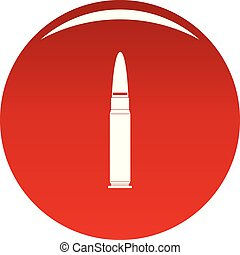 Cartridge for weapon icon vector red