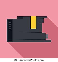 Cartridge icon, flat style