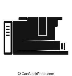 Cartridge icon, simple style