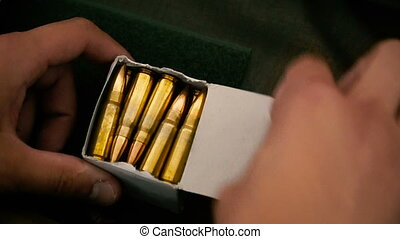 Cartridges. Cartridge box