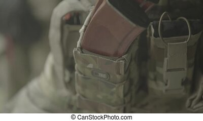 Cartridges charge. Close-up. Shooting. Stock video footage ...