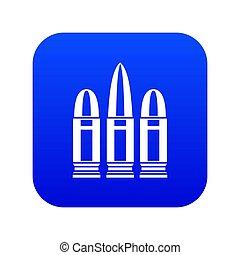 Cartridges icon digital blue