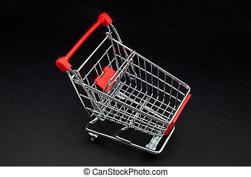 cart's supermarket on black background