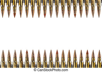 cartucho, 7.62, mm, calibre, isolated.