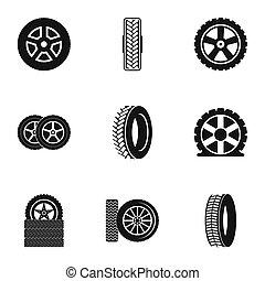Cartwheel icons set, simple style