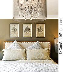 carved, дерево, pillows, постель, роскошь