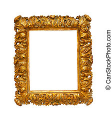 Carved frame isolated