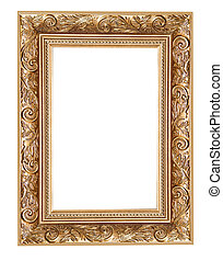 carved frame isolated on white background