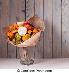 Carved fruit bouquet