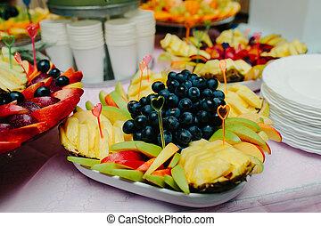Assortment of exotic fruits