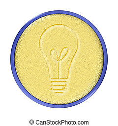 Carved Gold Bulb Button