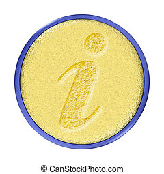 Carved Gold Information Button