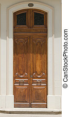 Carved Ornate Wooden Front Door