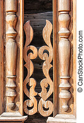 carved pattern on wood
