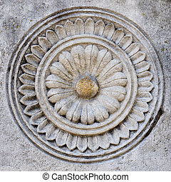 carved stone pattern